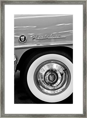 1951 Mercury Montclair Convertible Wheel Emblem Framed Print by Jill Reger
