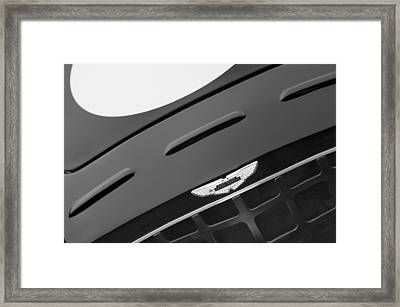 1952 Aston Martin Db3 Sports Grille Emblem Framed Print by Jill Reger