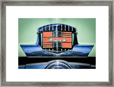1952 Nash Rambler Greenbrier Station Wagon Emblem Framed Print by Jill Reger