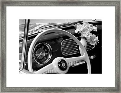 1952 Volkswagen Vw Bug Steering Wheel Framed Print