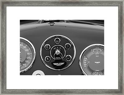 1953 Aston Martin Db2-4 Bertone Roadster Instrument Panel Framed Print