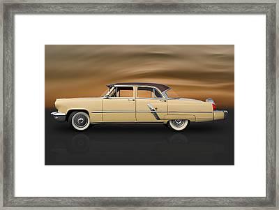 1953 Lincoln Sedan Framed Print by Frank J Benz