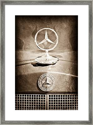 1953 Mercedes Benz Hood Ornament Framed Print