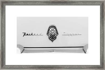 1953 Packard Clipper Deluxe Sedan Emblem Framed Print by Jill Reger