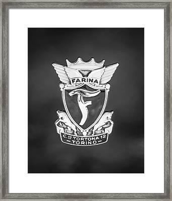 1953 Siata Daina Farina Emblem Framed Print