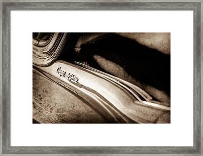 1954 Cadillac Coupe Deville Emblem Framed Print by Jill Reger