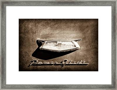 1954 Chevrolet Power Glide Emblem Framed Print