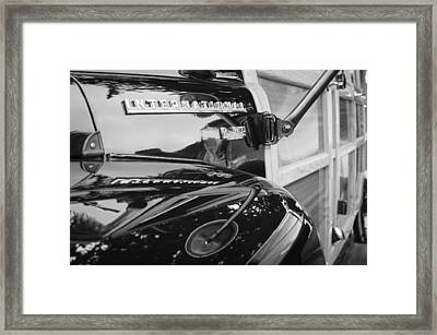 1954 International Harvester R140 Woody Wagon  Framed Print by Jill Reger