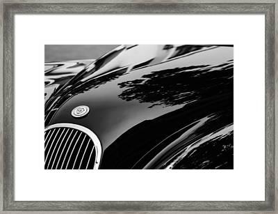 1954 Jaguar Xk 120 Roadster Hood Emblem Framed Print by Jill Reger