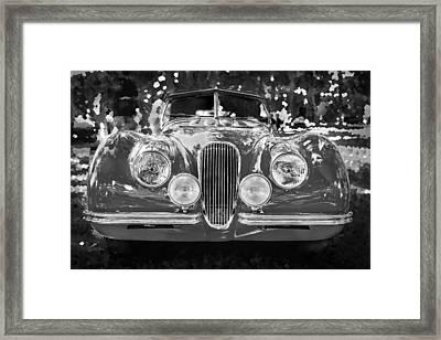 1954 Jaguar Xk 120 Se Ots Bw Framed Print by Rich Franco