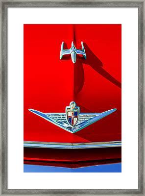 1954 Lincoln Capri Hood Ornament Framed Print by Jill Reger