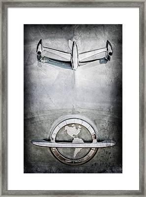 1954 Oldsmobile Super 88 Hood Ornament - Emblem Framed Print by Jill Reger