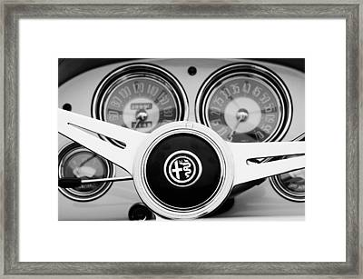 1955 Alfa-romeo 1900 Css Ghia Aigle Cabriolet Steering Wheel Framed Print by Jill Reger