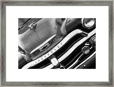 1955 Chevrolet 3100 Pickup Truck Grille Emblem Framed Print