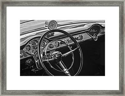 1955 Chevrolet Belair Steering Wheel - Dashboard Emblems Framed Print