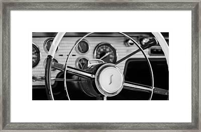 1955 Studebaker President Steering Wheel Emblem Framed Print by Jill Reger