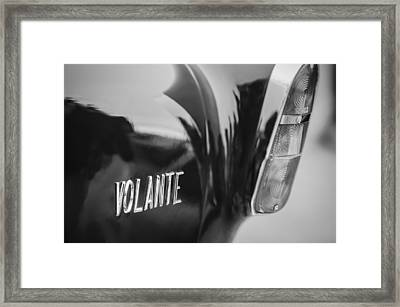 1956 Aston Martin Short Chassis Volante Taillight Emblem Framed Print