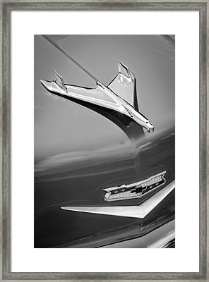 1956 Chevrolet 210 2-door Handyman Wagon Hood Ornament - Emblem Framed Print by Jill Reger