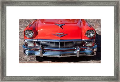 1956 Chevrolet Belair Convertible Custom V8 Framed Print