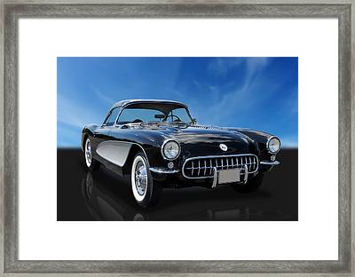 1956 Chevrolet Corvette Framed Print by Frank J Benz