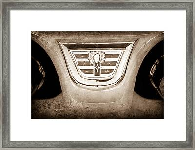 1956 Dodge 2 Door Wagon Emblem Framed Print by Jill Reger