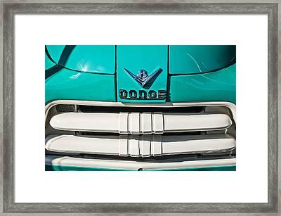 1956 Dodge Pickup Truck Grille Emblem Framed Print