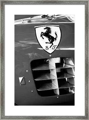 1956 Ferrari 500 Tr Testa Rossa Side Emblem Framed Print