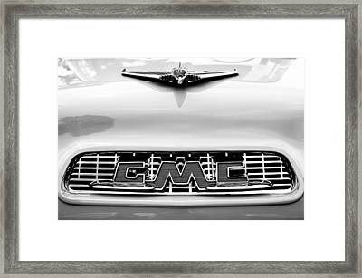 1956 Gmc 100 Deluxe Edition Pickup Truck Hood Ornament - Grille Emblem Framed Print