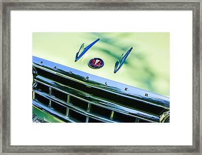 1956 Hudson Rambler Station Wagon Grille Emblem - Hood Ornament Framed Print