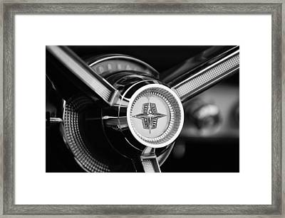 1956 Lincoln Continental Mark II Hess And Eisenhardt Convertible Steering Wheel Emblem Framed Print by Jill Reger