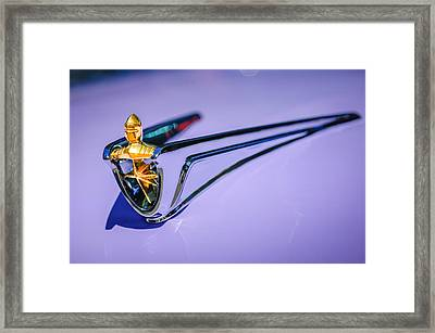 1956 Lincoln Premiere Hood Ornament -1098c Framed Print by Jill Reger