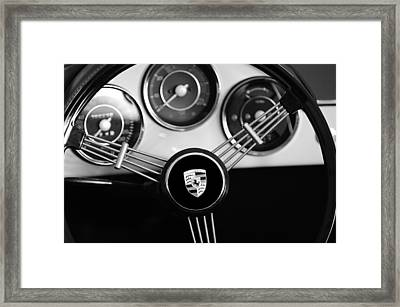 1956 Porsche Steering Wheel Emblem Framed Print by Jill Reger
