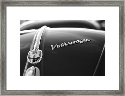 1956 Volkswagen Vw Bug Hood Emblem Framed Print by Jill Reger