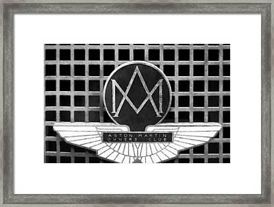 1957 Aston Martin Owner's Club Emblem Framed Print