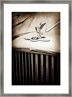 1957 Bentley S-type Hood Ornament - Emblem Framed Print by Jill Reger