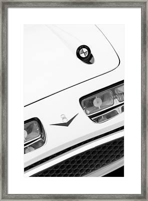 1957 Bmw 507 Loewy Pichon Et Parat Coupe Hood Emblem Framed Print by Jill Reger