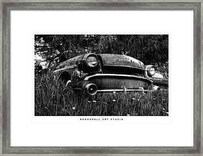 1957 Buick Roadmaster Framed Print by Heath Hartwig