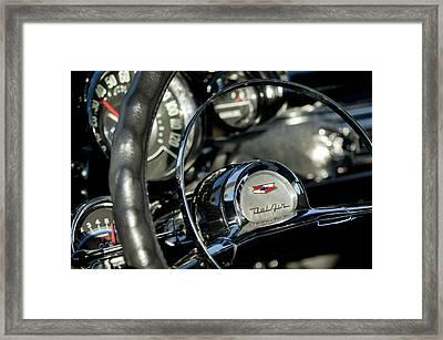 1957 Chevrolet Belair Steering Wheel Framed Print