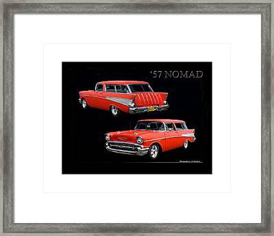 1957 Chevrolet Nomad Framed Print by Jack Pumphrey