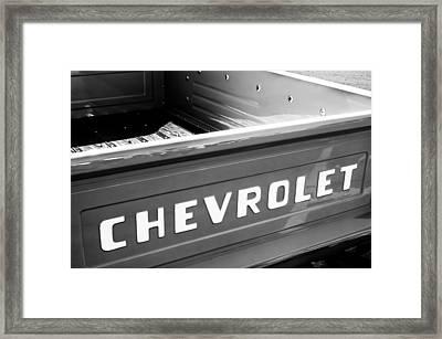 1957 Chevrolet Pickup Truck Emblem Framed Print