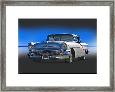 1957 Custom Oldsmobile Framed Print by Dave Koontz