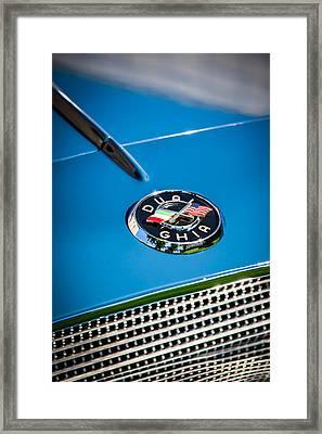 1957 Dual Ghia Sport Emblem Framed Print