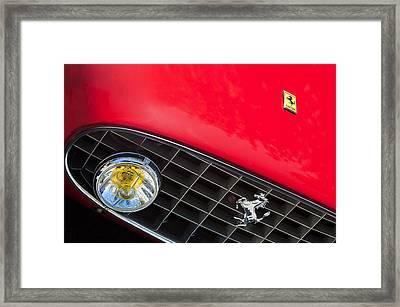 1957 Ferrari 410 Superamerica Series II Grille Emblem Framed Print by Jill Reger