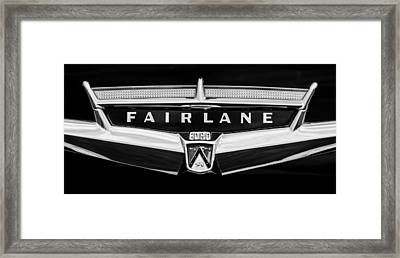 1957 Ford Fairlane Convertible Emblem Framed Print