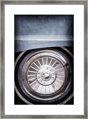 1957 Ford Fairlane Wheel Emblem Framed Print