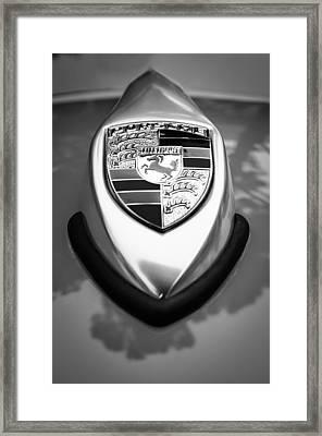 1957 Porsche 356 A Speedster Hood Emblem Framed Print