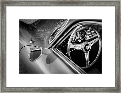 1957 Porsche Steering Wheel Framed Print by Jill Reger