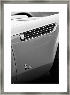 1958 Bmw 3200 Michelottie Vignale Roadster Emblems Framed Print by Jill Reger