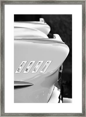 1958 Chevrolet Belair Hood Ornament Framed Print