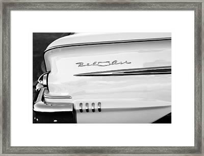 1958 Chevrolet Belair Tail Emblem Framed Print